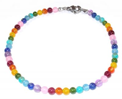 Rainbow Tiny Gemstone Bracelet