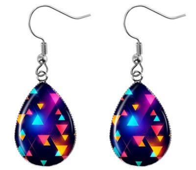 Neon Triangle Earrings