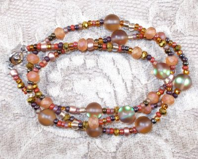 Earthtone Colors Bead Wrap Bracelet