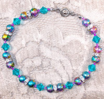 Swarovski Crystal and Glass Bead Bracelet