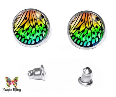 Butterfly Wing Stud Earrings