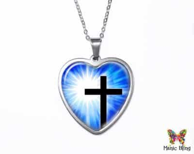 Christian Cross Heart Pendant Heart Pendants