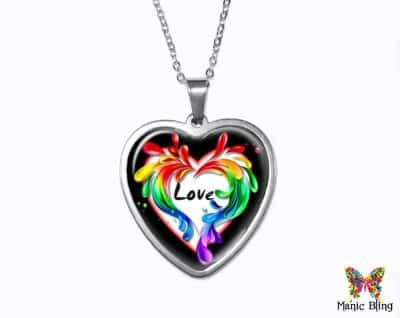 Colorful Heart Love Pendant Heart Pendants