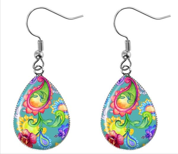Paisley Teardrop Earrings