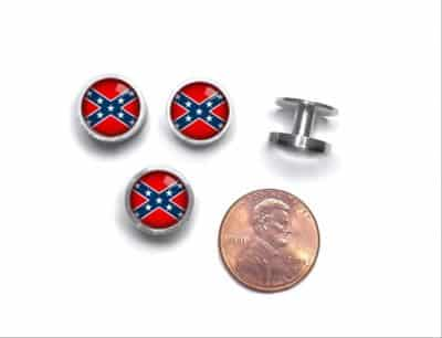 Confederate Flag Cufflinks and Studs