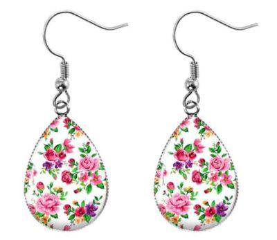 Ditsy Rose Earrings