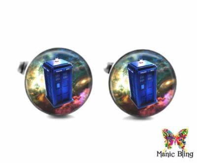 Doctor Who Tardis Cufflinks Tardis Tie Tack