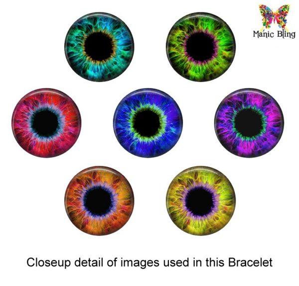 Evil Eye Glass Photo Bracelet