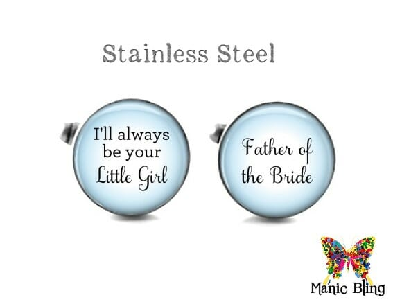 Father of the Bride Cufflinks Blue
