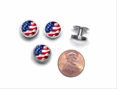 American Flag Cufflinks and Studs