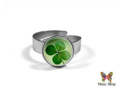 Four Leaf Clover Ring 10mm