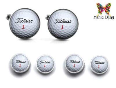 Golf Ball Cufflink Set
