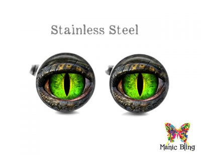 Green Dragon Eye Cufflinks