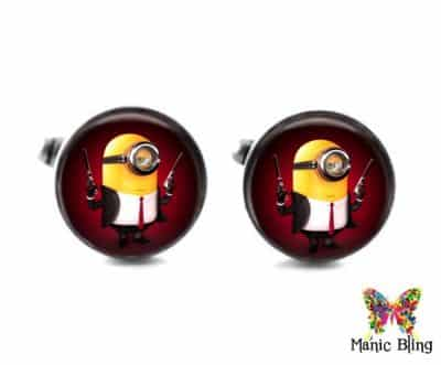 Minion Cufflinks Secret Agent Tie Tack