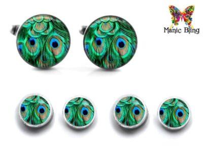 Peacock Cufflink Set