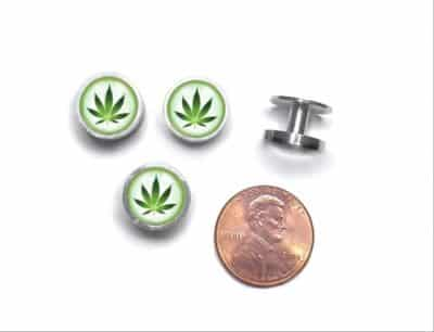 Cannabis Cufflinks and Studs