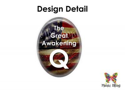 Qanon Pendant Stainless Steel Q Anon Great Awakening Pendant