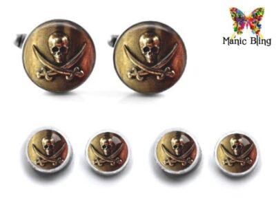 Pirate Skull Cufflink Set