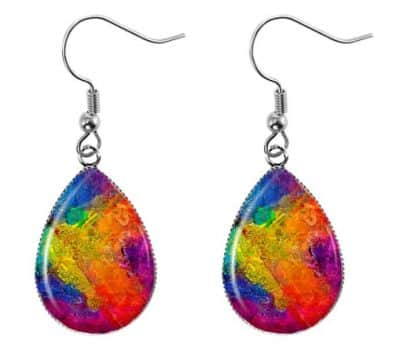 Textured Abstract Earrings
