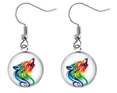Wolf Rainbow Earrings